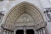 Main Entrance of Notre Dame de Paris — Stock fotografie