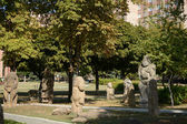 Park in a yard of the Ukrainian National University — Stock Photo
