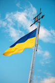 The national flag of Ukraine — Stok fotoğraf
