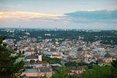 Overview of Lviv in Ukraine — Stockfoto