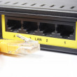 Network concept. Dsl modem - Stock Photo