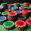 Poker chips, large sum concept - Stock Photo