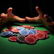 Poker chips, large sum concept - Stock fotografie