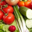 Green-stuff. Fresh vegetables. Diet concept. - Stock Photo