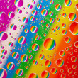 Water-drops. 7 colors of a rainbow. - Stock Photo