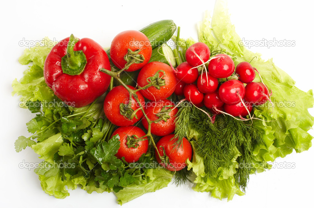 Green-stuff. Fresh vegetables. Diet concept. Vegetarian. Agriculture.  Stock Photo #13696284