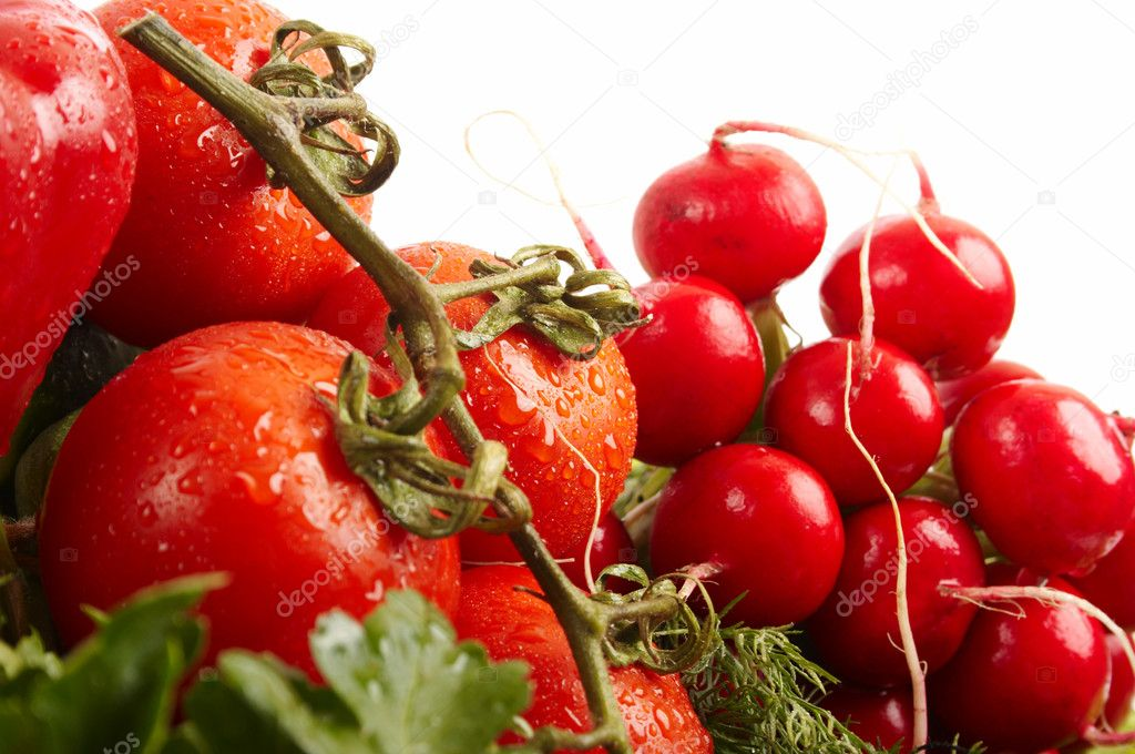 Green-stuff. Fresh vegetables. Diet concept. Vegetarian. Agriculture. — Stock Photo #13696291