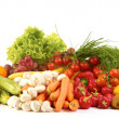 Fresh vegetables over white background - Stock Photo