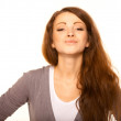 Flirtatious young woman - Stock Photo