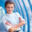 Portrait of cute young business woman outdoor - Stockfoto