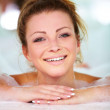 Gorgeous young woman lying in a bath tub - Stock Photo