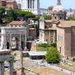 Roman Forum, church Santi Luca e Martina and Vittoriano — Stock Photo