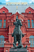 The monument to marshal of the Soviet Union Georgy Zhukov in Moscow, Russia — Stock Photo
