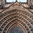 Royalty-Free Stock Photo: Barcelona Cathedral entrance