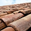 Stock Photo: Rustic roof tiles provence france
