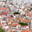 Tilt-shift view of Lisbon. Portugal - Stock Photo