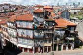 Old houses of Rua Pena Ventosa, Porto, Portugal — 图库照片