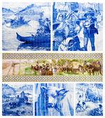 плитка португальского искусства — Стоковое фото