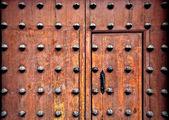 Ornamental spanish door — Stock Photo