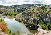 The Tagus River flows through Toledo, Spain — Stock Photo