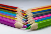 Crossed colorful pencils — Stock Photo