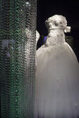 Wedding dress in a shop — Stock Photo