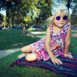 Girl With Purple Glasses — Stock Photo