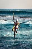 Pescador de palafitas — Foto Stock