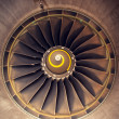Turbo-jet engine of the plane — Stock Photo