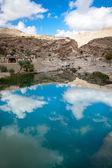 Wadi Bani Khalid, Oman, with great sky reflection — Stock Photo