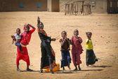 Senegal girls greeting — Stock Photo