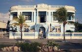 Beautiful blue house in Cienfuegos, Cuba — Stock Photo