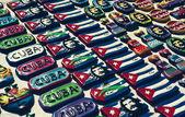 Cuban souvenirs on a small Havana market — Stock Photo