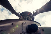 Propeller on military helicopter — Stock Photo