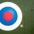 Bulls Eye target on military helicopter — Stock Photo