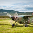 Slovenian school army plane — Stock Photo