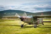 Slovenian school army plane — Stock Photo