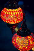 Islam and arabic lantern lamp at souk in Muscat — Stock Photo