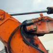 Part of the hydraulic system of an excavator — Stock Photo #51310215