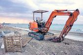 Empty excavator in Larnaca — Stockfoto