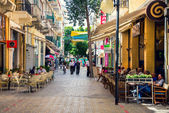 Street full of people in Nicosia — Stock Photo