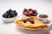Pancakes and Berries — Stock Photo