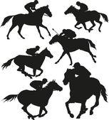 Horse race — Stock Vector