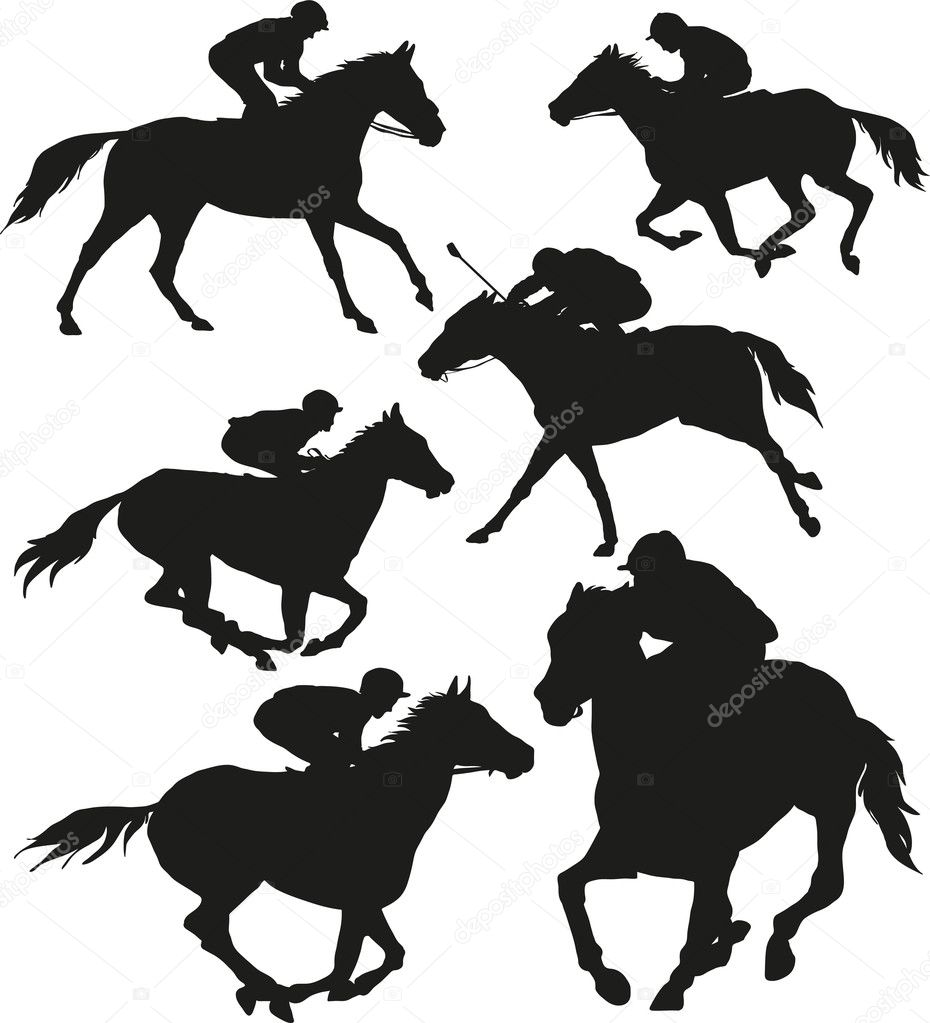 Eventing Horse Silhouette Race Horse Silhouette Clipart