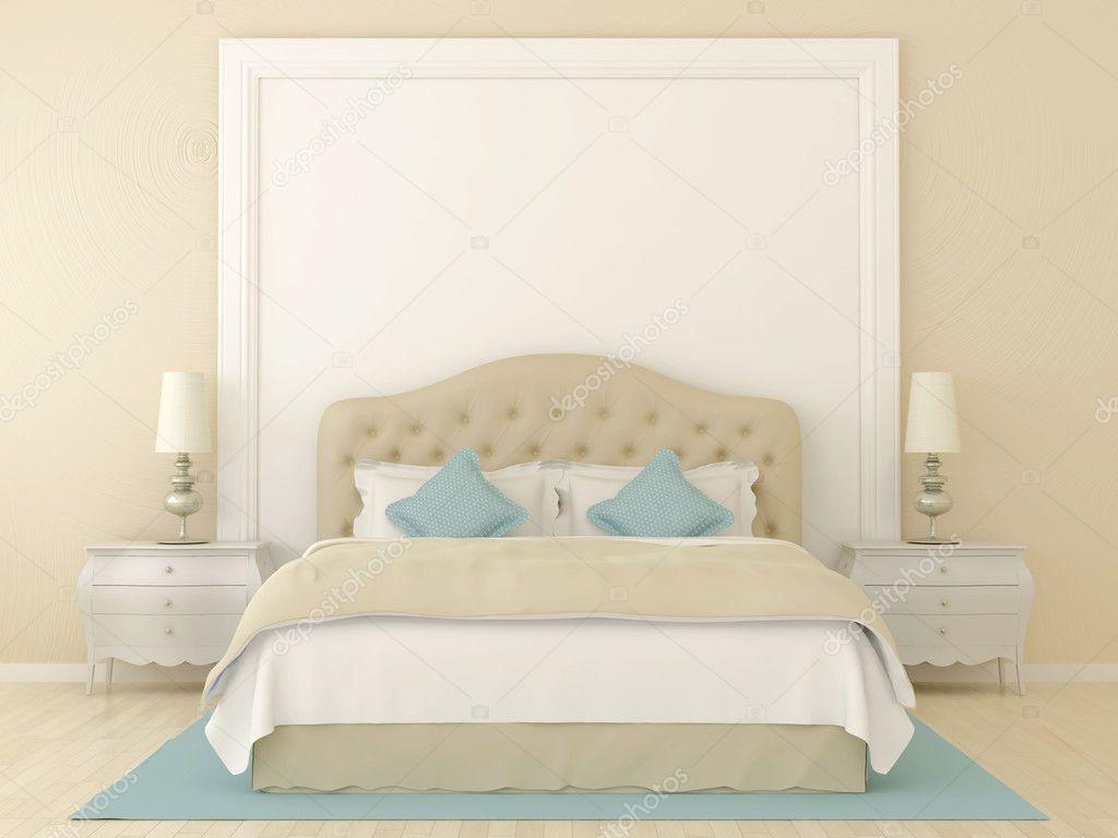 Beige slaapkamer — Stockfoto © JZhuk #13610138