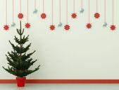 árbol de navidad y decoraciones — Foto de Stock