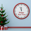 Christmas tree and clock — Stock Photo #15882697