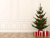 Christmas tree in interior — Stock Photo