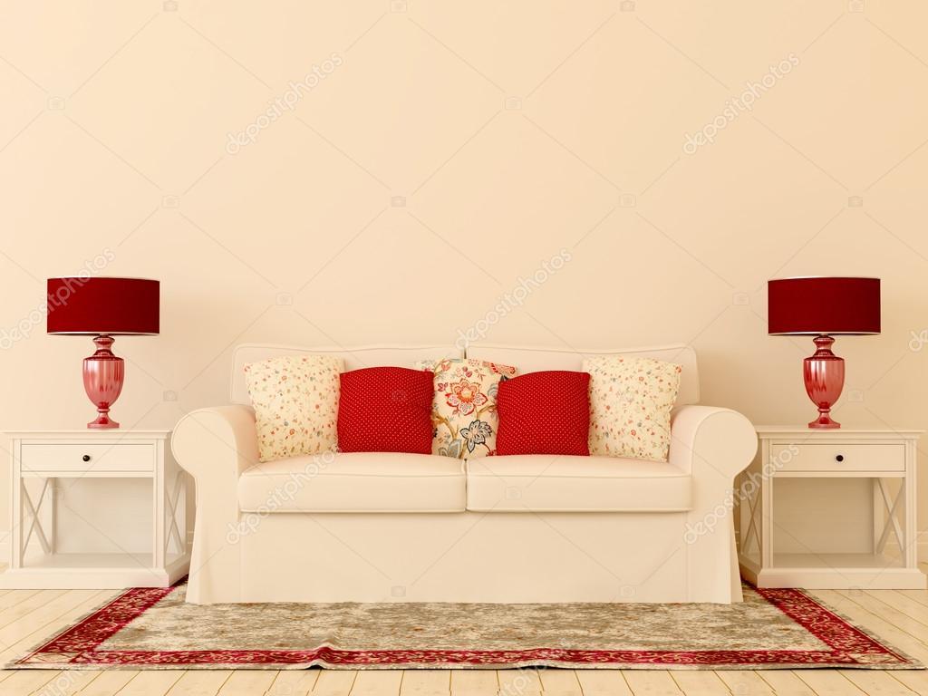 White sofa with red decor stock photo jzhuk 16780581 - Red and white sofa ...