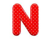 Alphabet N — 图库照片